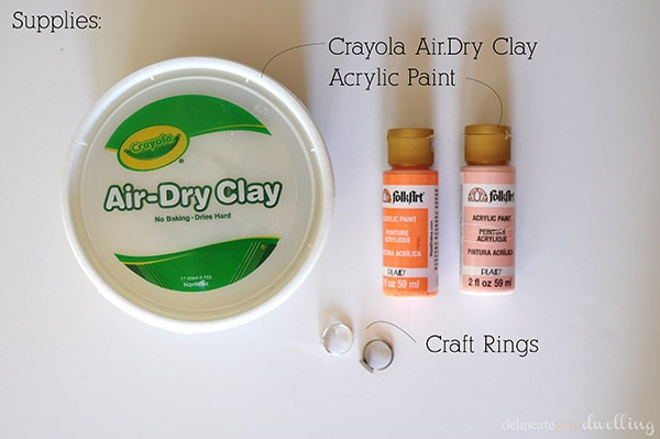 Geometric Clay Rings supplies, Delineate Your Dwelling