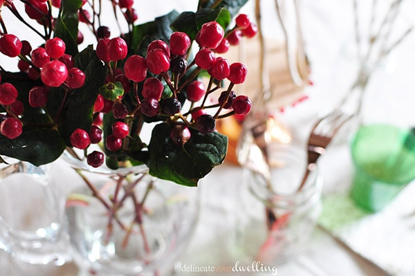 Holiday Gathering berries, Delineateyourdwelling.com