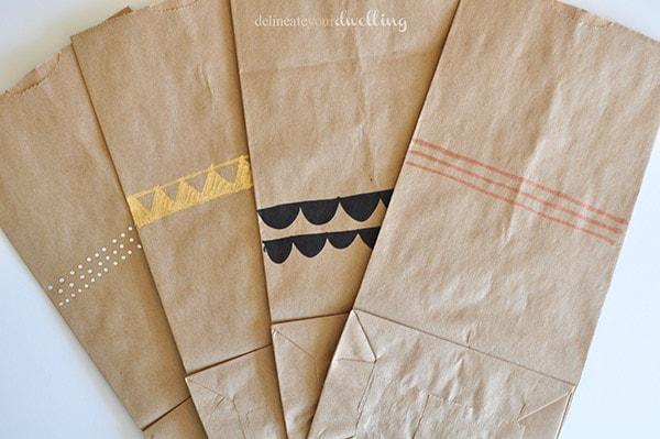 Leftover paper bags patterns