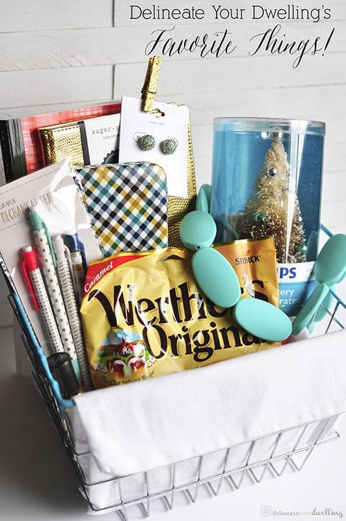 My Favorite Things Basket, Delineateyourdwelling.com