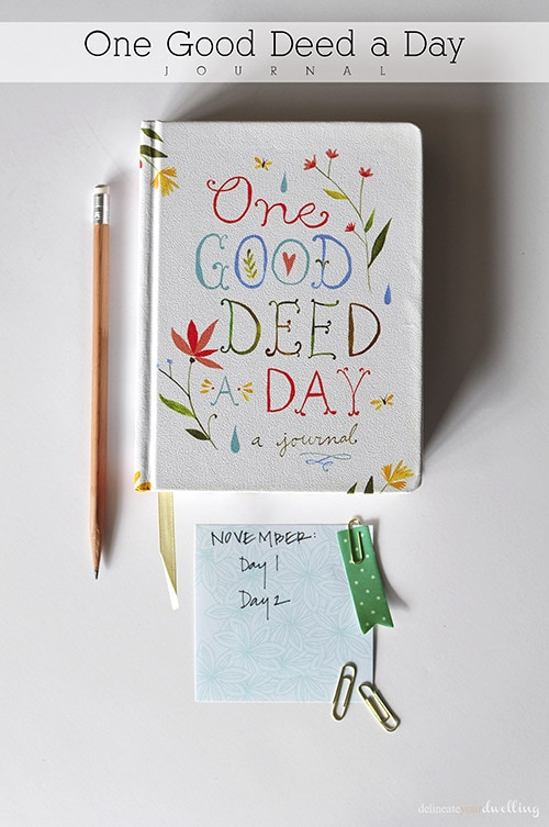 One Good Deed-1, Delineate Your Dwelling