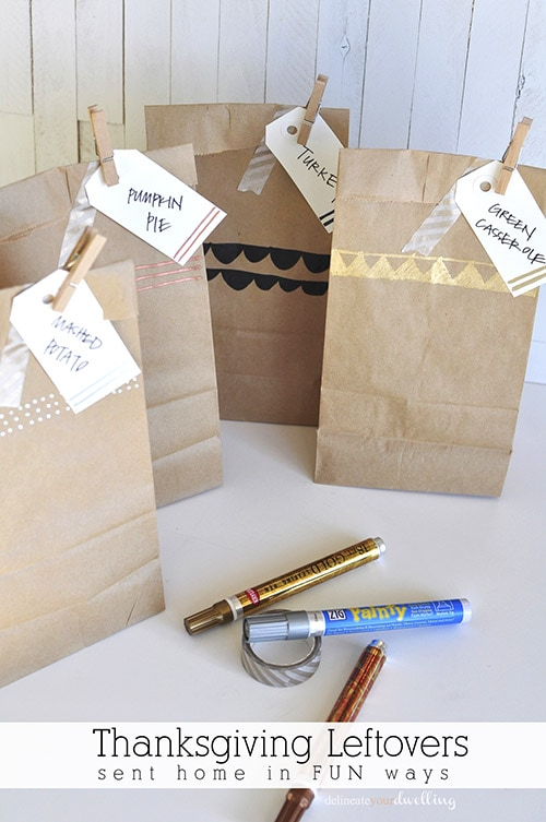 Thanksgiving Leftover bag package, Delineateyourdwelling.com