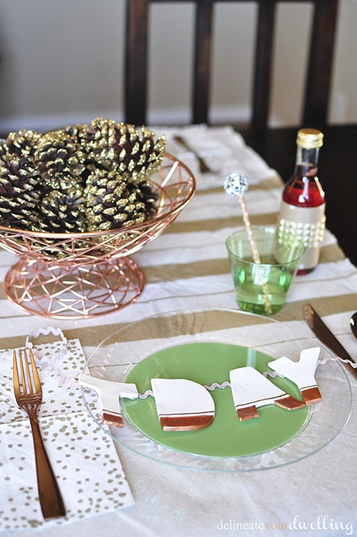 Copper Rustic Thanksgiving Tablescape