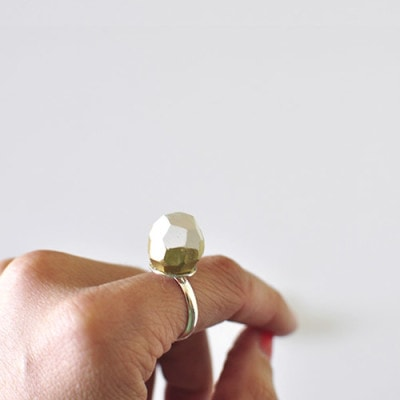 White Gold Clay Ring, Delineate Your Dwelling
