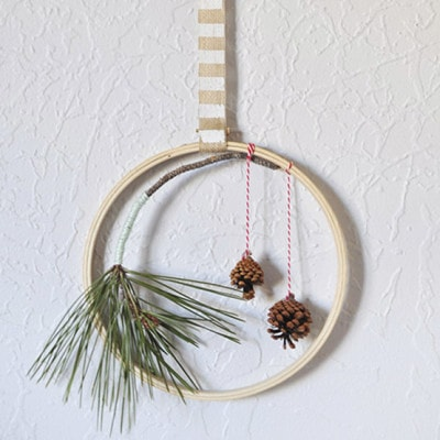 1 Evergreen Hanging Hoop decor