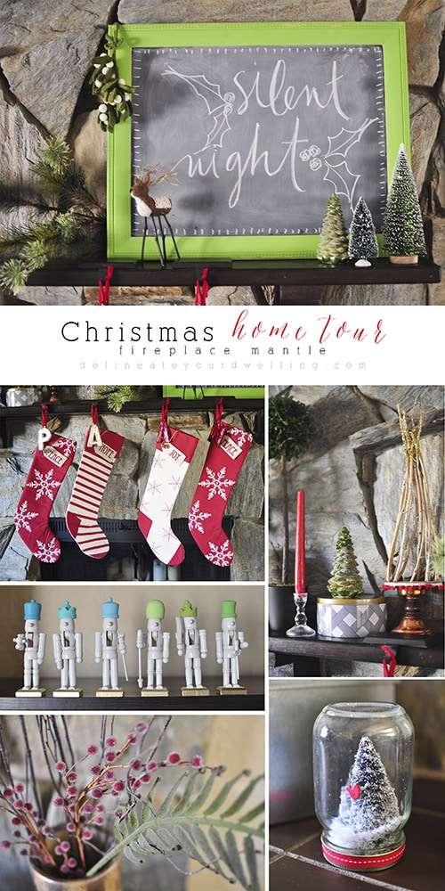 Christmas Fireplace Mantle, Delineateyourdwelling.com