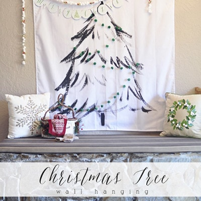 Christmas Tree Wall Hanging, Delineateyourdwelling.com