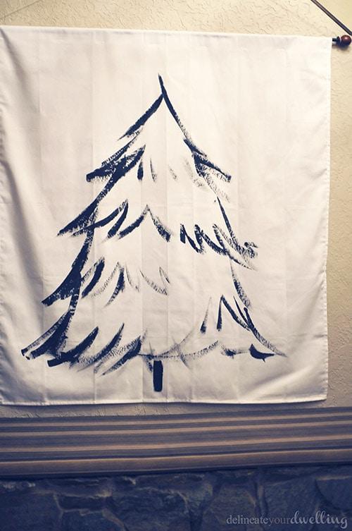 Christmas Tree Wall Hanging wall, Delineateyourdwelling.com