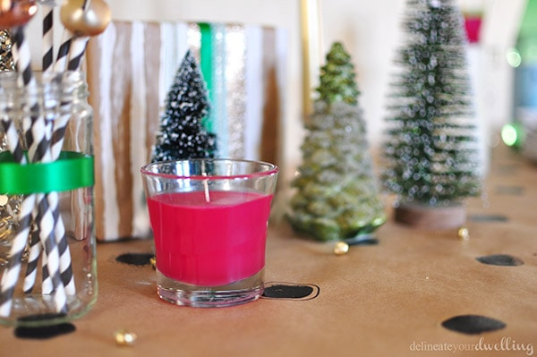 Colorful Christmas Party candle, Delineateyourdwelling.com