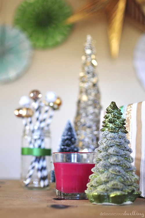 Colorful Christmas Party decor