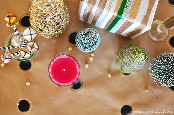 Colorful Christmas Party candle bells