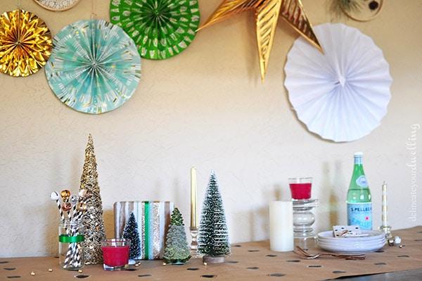 Colorful Christmas Party setup