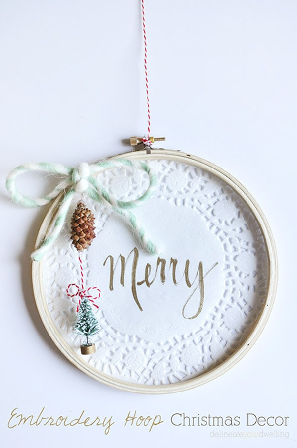 Embroidery Hoop Christmas Decor