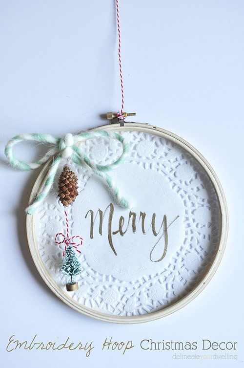 Embroidery Hoop Christmas Decor, Delineateyourdwelling.com
