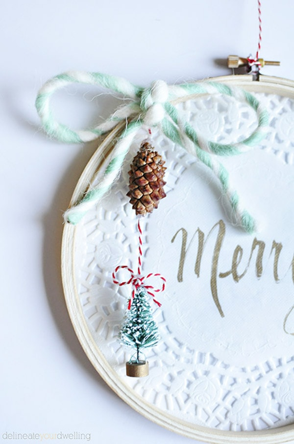 Embroidery Hoop Christmas Decor, Delineate Your Dwelling