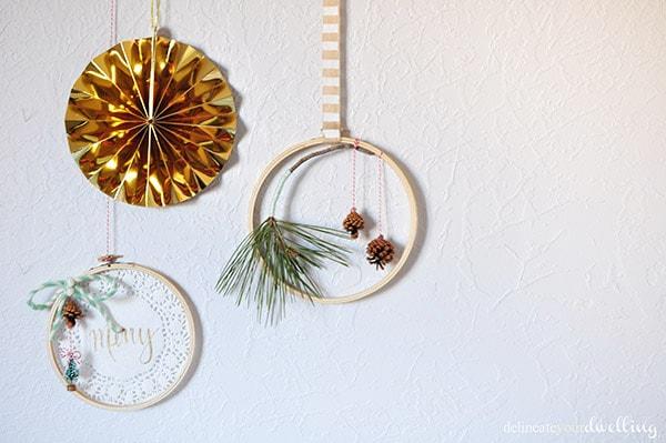 Evergreen Hanging Hoop Wall decor
