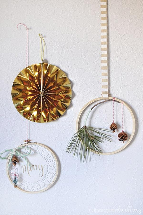 Evergreen Hanging Hoop decor