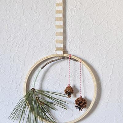 Holiday Evergreen Hoop, Delineateyourdwelling.com