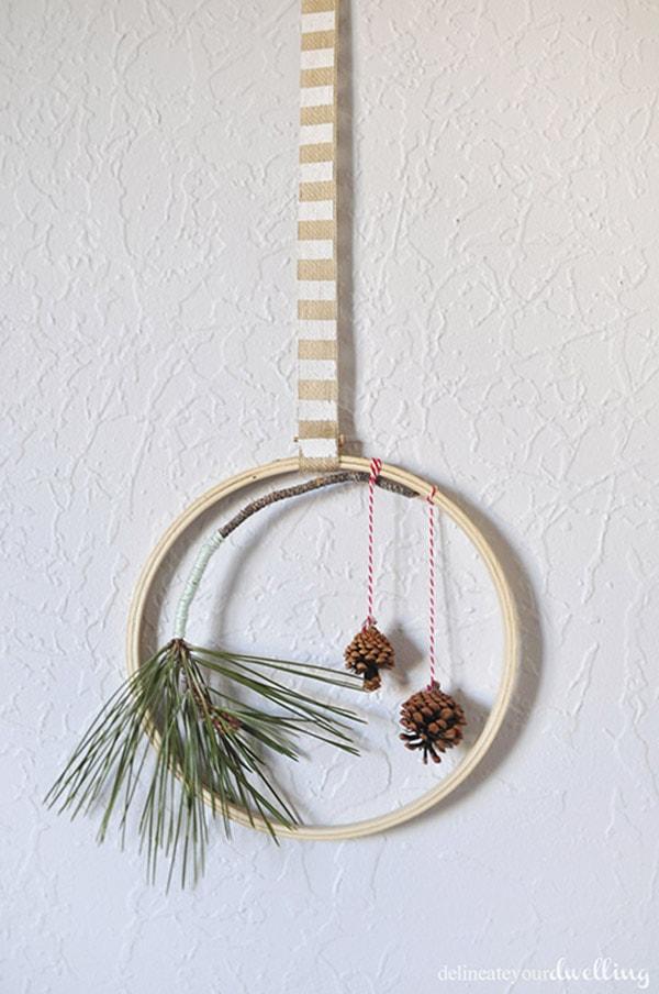 Holiday Evergreen Hoop