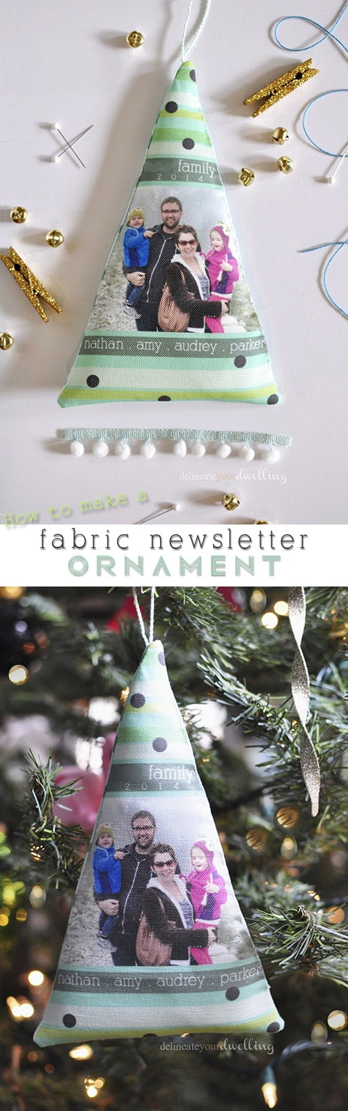 Fabric Newsletter Ornament done, Delineateyourdwelling.com
