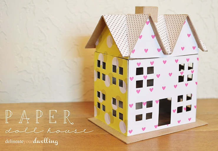 Scrapbook Paper Doll House, Delineateyourdwelling.com