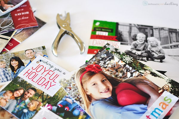 Christmas Cards hole punched, Delineateyourdwelling.com