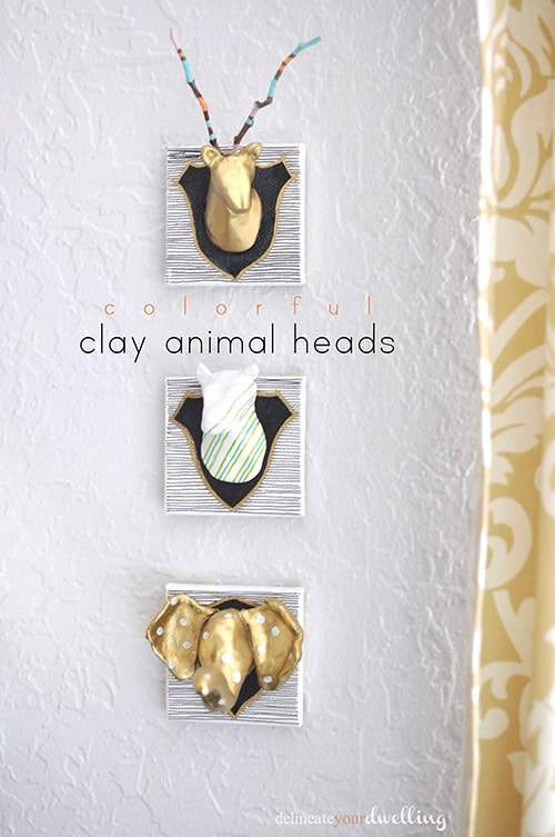 Air Dry Clay Animal Heads