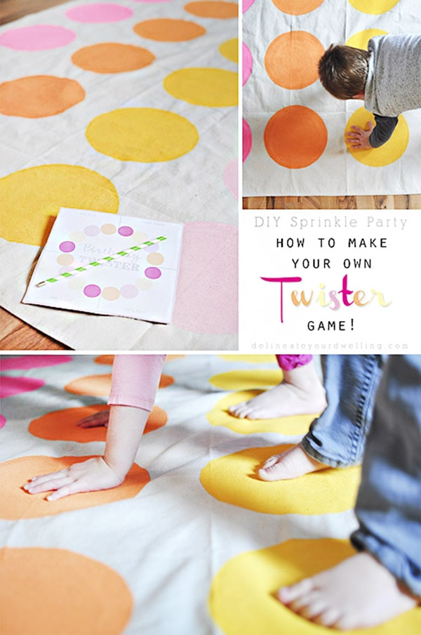 homemade DIY Twister mat