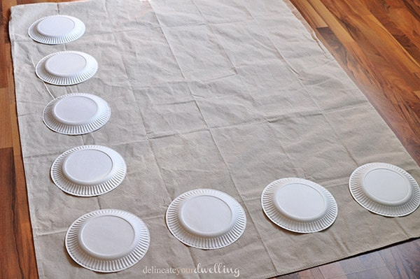 custom DIY Twister mat paper plates