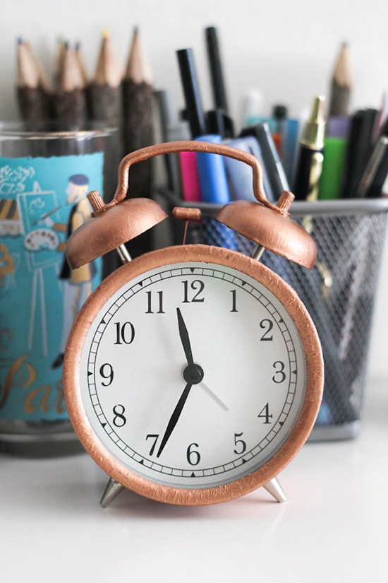 Feature Friday Crafted Life-copper leaf clock