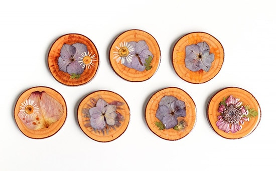 Feature Friday Crafted Life-flower coasters