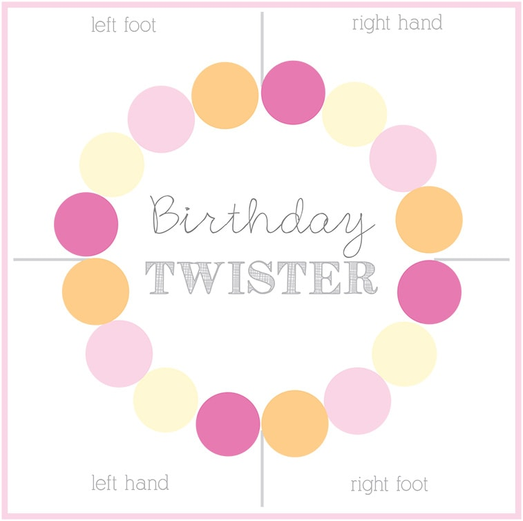 Learn how to make a custom homemade DIY Twister mat and board game for your next birthday party.  Plan to have loads of good ole' fashioned family fun with your kids! Delineate Your Dwelling #DIYTwister #DIYTwisterMat #DIYTwisterboard
