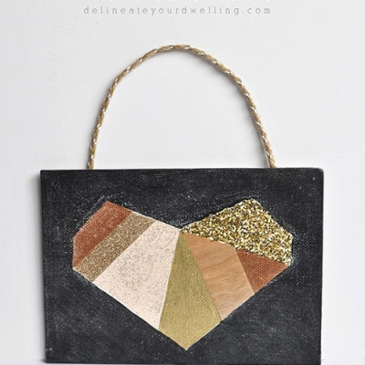 Mixed material geometric heart, Delineateyourdwelling.com