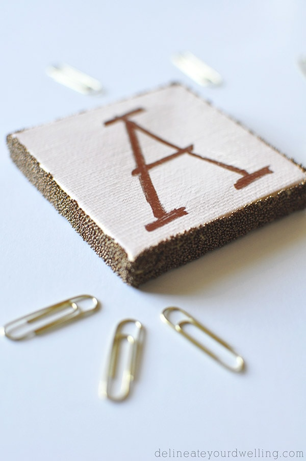 Copper Letter A Sign