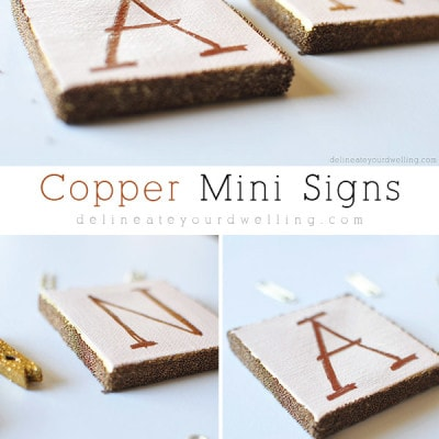 Copper Mini Sign, Delineateyourdwelling.com