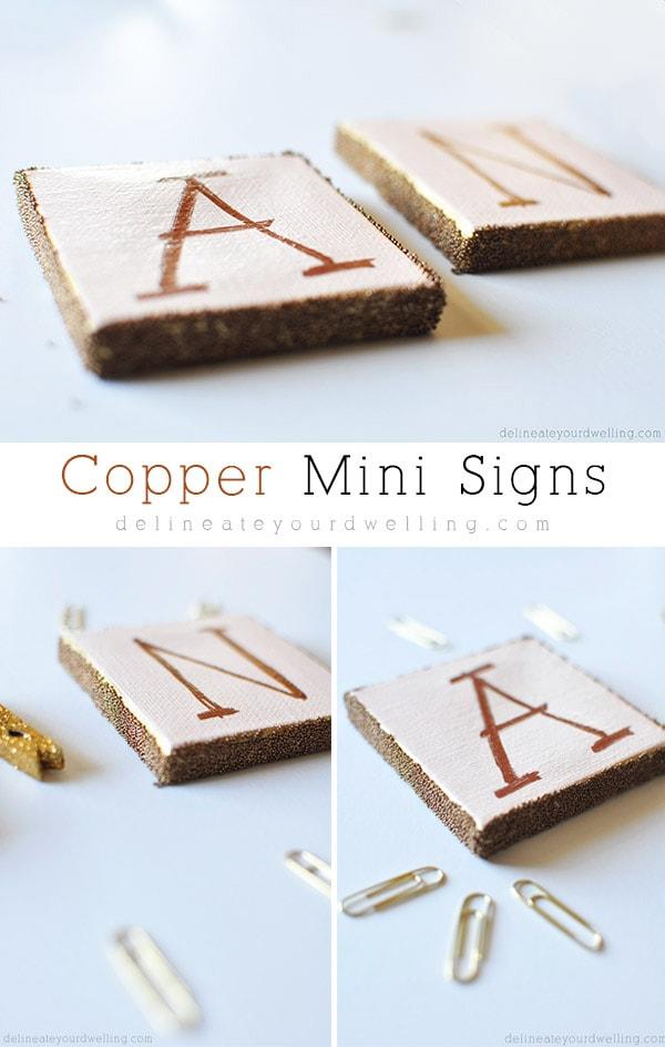 Copper Mini Sign, Delineateyourdwelling.com