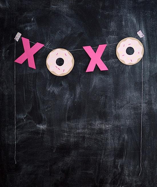 DIY xoxo banner Nalles House