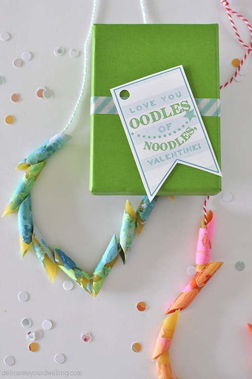 Noodles Vday Printable blue necklace, Delineateyourdwelling.com