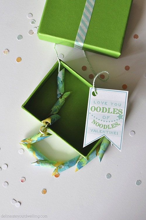 Noodles Vday Printable green necklace, Delineateyourdwelling.com