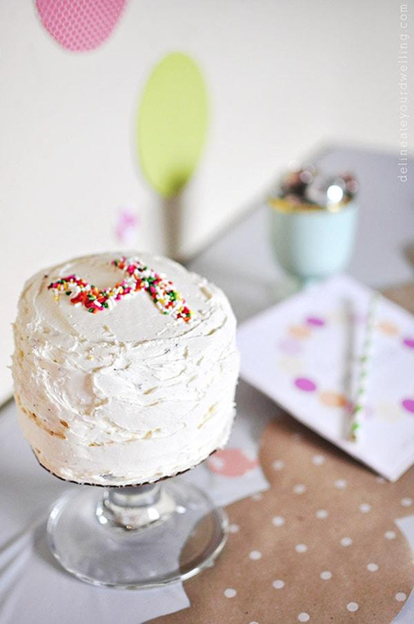 Sprinkle Party birthday cake - homemade