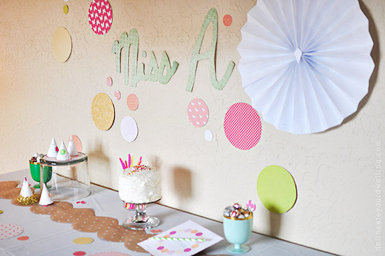 Sprinkle themed Party decor