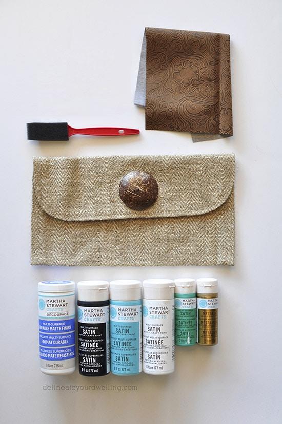 Stamped Clutch supplies