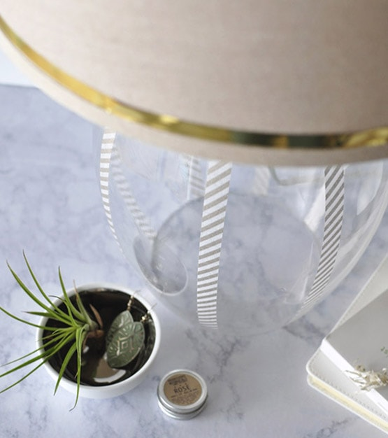Washi Updated Glass Lamp, Delineateyourdwelling.com