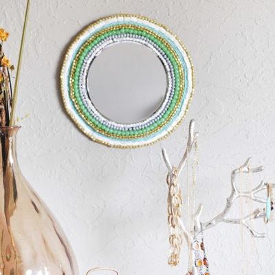 1 Beaded Wall Mirror