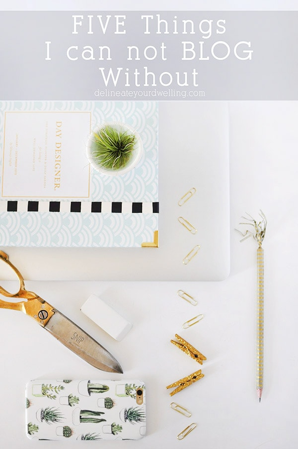 5 Things I can't Blog without! Delineate Your Dwelling