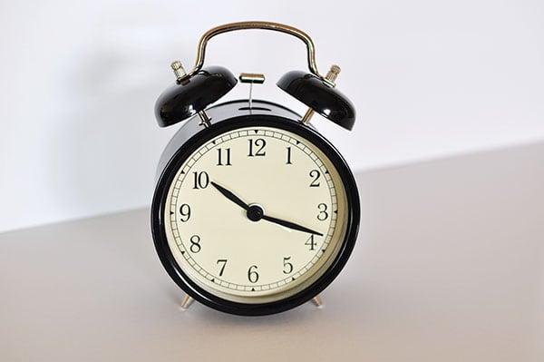 Ikea clock before