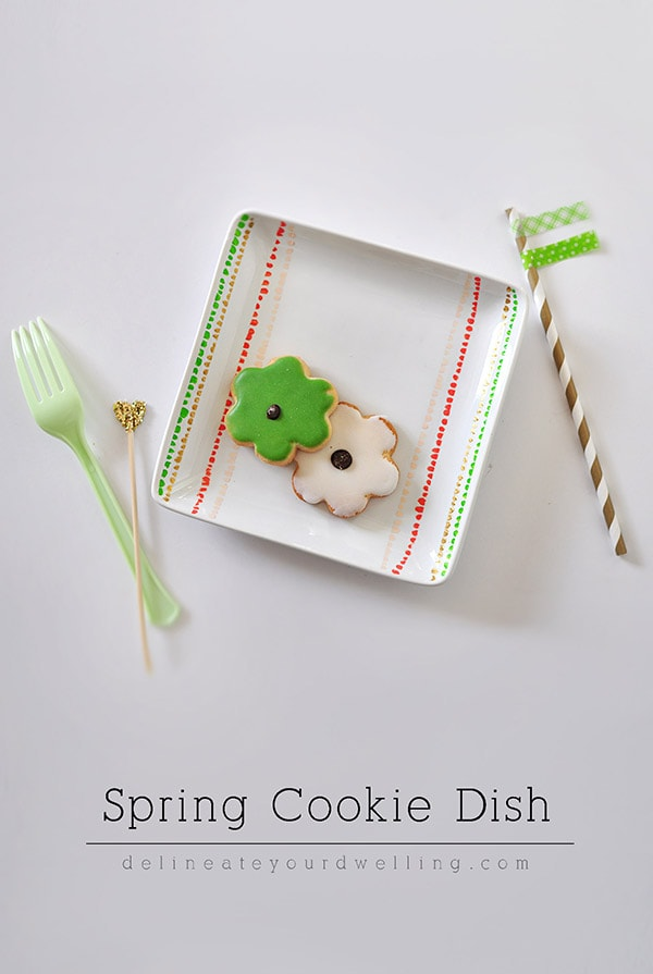 Spring Cookie Dish, Delineateyourdwelling.com