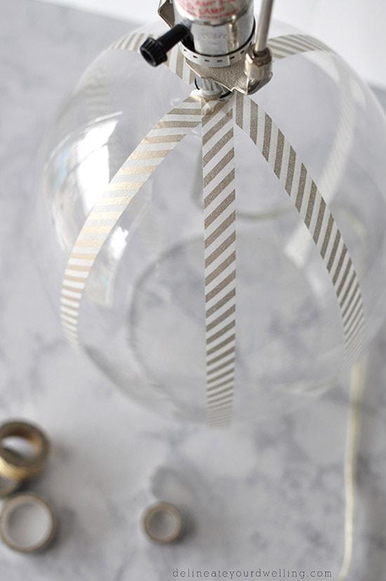 Washi Glass Lamp steps