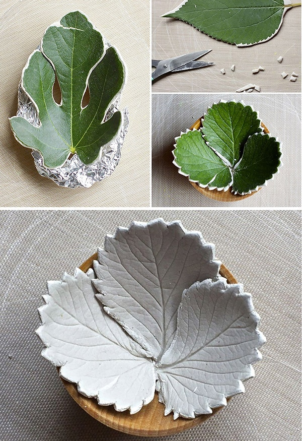 Air Dry Clay leaves
