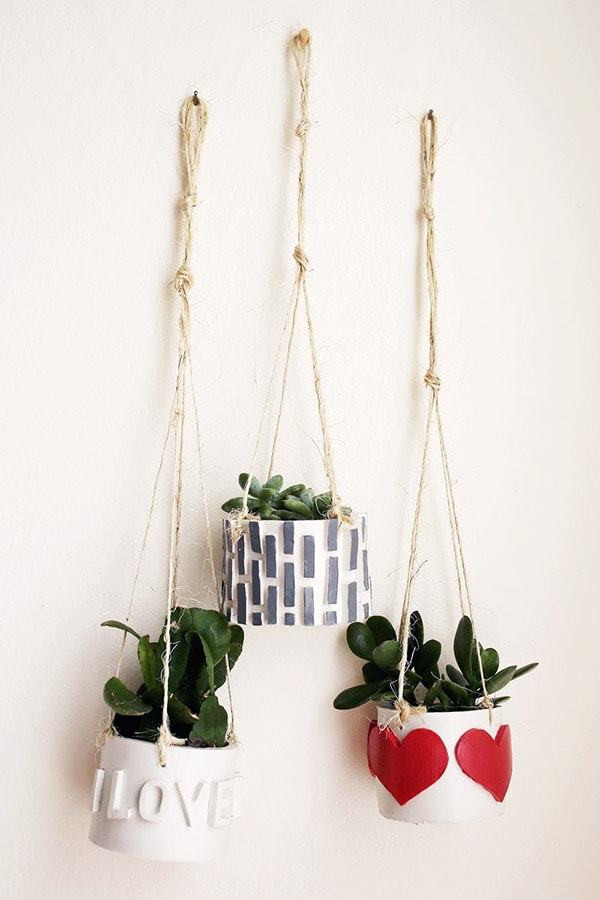 Air Dry Clay hanging jars